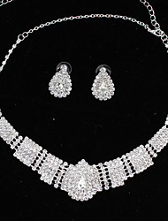 cheap -Women's Choker Necklace - Drop Fashion Silver Necklace Jewelry Two-piece Suit For Wedding, Party