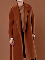 Недорогие -Муж. Пальто Рубашечный воротник Однотонный