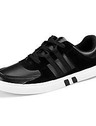 Homme Chaussures Polyuréthane Printemps Automne Basket Lacet pour Athlétique Décontracté Noir Noir et Blanc Gris/Blanc
