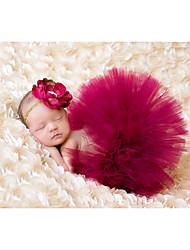 abordables -bébé Fille simple Couleur Pleine Sans Manches Fibre de bambou Ensemble de Vêtements