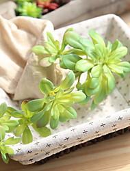 economico -1 Ramo Plastica Piante Piante succulente Fiori da tavolo Fiori Artificiali