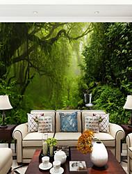 abordables -Árboles y Hojas Art Decó 3D Decoración hogareña Moderno Rústico Modern Revestimiento de pared , Lienzos Material adhesiva requerida Mural