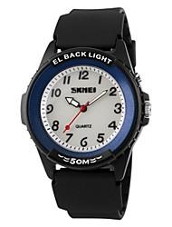 Недорогие -SKMEI Для пары Спортивные часы Кварцевый 50 m Защита от влаги Фосфоресцирующий Повседневные часы PU Группа Аналоговый Роскошь На каждый день Мода Черный - Кофейный Зеленый Синий