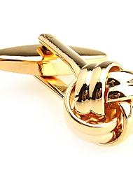 cheap -Circle White Golden Cufflinks Copper Fashion Ethnic Wedding Daily Men's Costume Jewelry