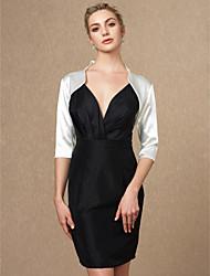 cheap -3/4 Length Sleeves Satin Wedding Party / Evening Women's Wrap Shrugs