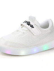 Boys' Shoes PU Spring Summer Comfort Light Up Shoes Sandals Hook & Loop LED for Casual White Pink