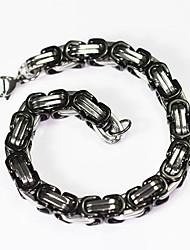 economico -Per uomo Per donna Bracciali a catena e maglie , Vintage Essenziale Acciaio inossidabile Di forma geometrica Gioielli Quotidiano Formale