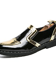 cheap -Men's Shoes Synthetic Microfiber PU Spring Fall Driving Shoes Formal Shoes Loafers & Slip-Ons for Casual Party & Evening Gold Black Silver
