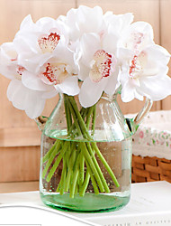 cheap -Artificial Flowers 6 Branch Simple Style / European Style Orchids Tabletop Flower