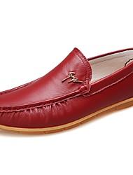 abordables -Homme Chaussures Cuir Printemps / Automne Confort / Chaussures de plongée Mocassins et Chaussons+D6148 Noir / Jaune / Rouge
