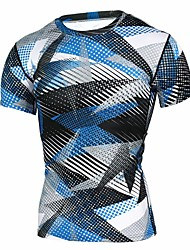 cheap -Men's Sports Punk & Gothic T-shirt - Plaid Round Neck