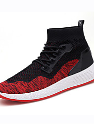 cheap -Men's Shoes Knit Spring Fall Comfort Sneakers for Casual Outdoor Black Red Black/Red Black/Green