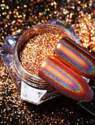 cheap -1pc Glitters Sparkle Laser Holographic Glitter Powder Gold Nail Art Design
