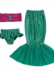 cheap -The Little Mermaid Skirt Children's Halloween Festival / Holiday Halloween Costumes Green Mermaid Halloween