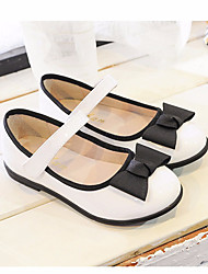 cheap -Girls' Shoes Patent Leather Spring Fall Flower Girl Shoes Flats Bowknot for Casual Burgundy Black White