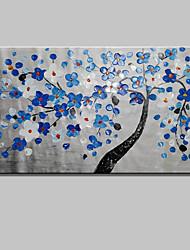 economico -Hang-Dipinto ad olio Dipinta a mano - Floreale / Botanical Semplice Tela