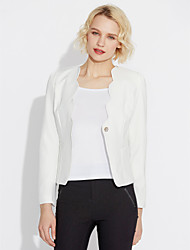 cheap -Women's Work Blazer - Solid Color, Print V Neck