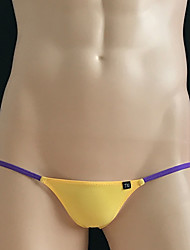 cheap -Men's Stretchy Solid Briefs Underwear Thin,Nylon 1pc Yellow Red Black Blue