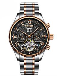 preiswerte -Herrn Armbanduhren für den Alltag Kleideruhr Mechanische Uhr Schweizer Automatikaufzug Kalender Chronograph Armbanduhren für den Alltag