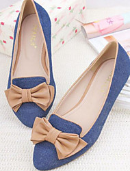 cheap -Women's Shoes Denim Spring Comfort Flats Flat Pointed Toe Closed Toe for Casual Blue Green