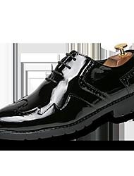 preiswerte -Herren Schuhe Echtes Leder Leder Frühling Sommer Komfort Outdoor Spitze für Hochzeit Normal Gold Schwarz