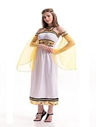 La Grèce ancienne Rome antique Costume Femme Costume de Soirée Bal Masqué Blanc Vintage Cosplay Térylène Sans Manches Gigot / Ballon