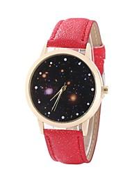 baratos -Mulheres Quartzo Relógio de Pulso Chinês Relógio Casual PU Banda Casual Relógio Elegante Fashion Preta Branco Azul Vermelho Marrom Rosa