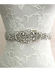 cheap -Silk Like Satin Wedding Special Occasion Sash With Rhinestone Women's Sashes