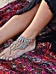 preiswerte -Aleación Fußakzente Damen Hochzeit Urlaub Silber