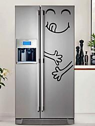Недорогие -абстракция Наклейки Простые наклейки Декоративные наклейки на стены,Бумага Украшение дома Наклейка на стену Холодильник