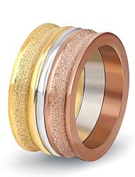 preiswerte -Damen Bandring - Kreisform Klassisch / Elegant Gold Ring Für Hochzeit / Party / Alltag