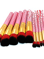 cheap -10 pcs Makeup Brush Set Blush Brush Eyeshadow Brush Lip Brush Powder Brush Foundation Brush Nylon Synthetic Hair Eco-friendly