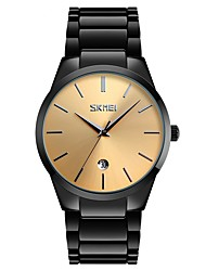 cheap -SKMEI Men's Quartz Sport Watch Chinese Calendar / date / day Water Resistant / Water Proof Large Dial Alloy Band Luxury Vintage Casual