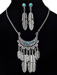 economico -Per donna Set di gioielli Turchese Lega Ali / Piume Vintage Stile Boho Feste Formale 1 collana Orecchini Bigiotteria