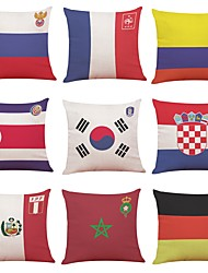 cheap -9 pcs Linen Pillow Cover, Art Deco National Flag