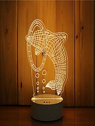 1 комплект 3d-настроение ночной свет руки чувство dimmable usb приведенный в действие подарочный светильник прыжок