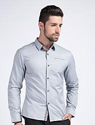 Pánské Jednobarevné Denní Na běžné nošení Košile-Celý rok Polyester Košilový límec Dlouhé rukávy Neprůhledné