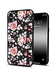 abordables -Coque Pour Apple iPhone X iPhone 8 Plus Motif Coque Fleur Flexible TPU pour iPhone X iPhone 8 Plus iPhone 8 iPhone 7 Plus iPhone 7 iPhone