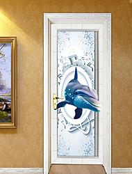 abordables -Animaux 3D Stickers muraux Autocollants muraux 3D Autocollants muraux décoratifs, Vinyle Décoration d'intérieur Calque Mural Mur