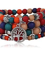 economico -Per donna Dell'involucro del braccialetto , Classico Di tendenza Colorato Vetro Lega Albero della vita Gioielli Quotidiano