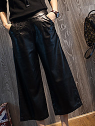 cheap -Women's High Rise Micro-elastic Wide Leg Pants,Vintage Solid Winter Fall