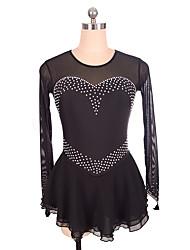 abordables -Robe de Patinage Artistique Femme / Fille Patinage Robes Noir Spandex Non Elastique Utilisation / Exercice Tenue de Patinage Couleur