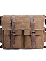 preiswerte -Unisex Taschen Segeltuch Schultertasche Tasche für Normal Schwarz / Grau / Kaffee