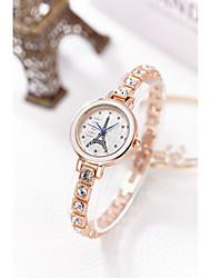 cheap -Women's Bracelet Watch Simulated Diamond Watch Japanese Quartz 30 m Water Resistant / Water Proof Imitation Diamond Alloy Band Analog Sparkle Bangle Fashion Silver / Gold - Gold Silver