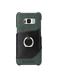 Недорогие -Кейс для Назначение SSamsung Galaxy S8 Plus S8 Бумажник для карт Кольца-держатели Кейс на заднюю панель Сплошной цвет Твердый Настоящая