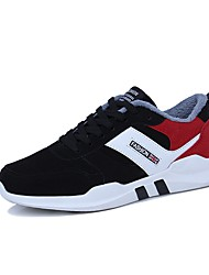 cheap -Men's Shoes PU Winter Fur Lining Comfort Athletic Shoes Running Shoes for Athletic Casual Gold Black/White Black/Red