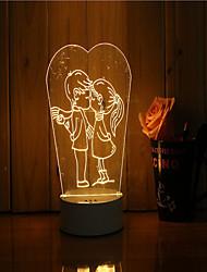 1 набор 3d настроение ночь свет рука чувство dimmable usb питание подарок лампа любят друг друга