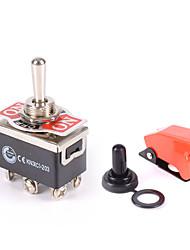 Недорогие -сверхмощный переключатель переключения передач вкл / выкл / на приборной панели автомобиля 12v dpdt ракета / крышка для воды