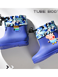 cheap -Boys' Shoes PVC Leather Spring Fall Comfort Rain Boots Boots Booties/Ankle Boots for Casual Light Green Pink Blue