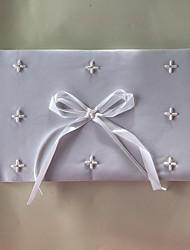 Satén Romantika Fantazie SvatbaWithUmělé perly 1 krabice Návštěvní kniha